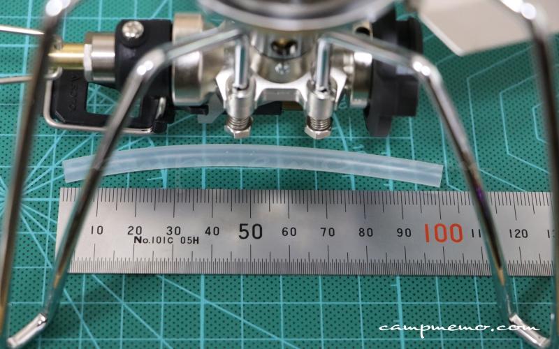 ST-310用の耐熱シリコンチューブの長さ