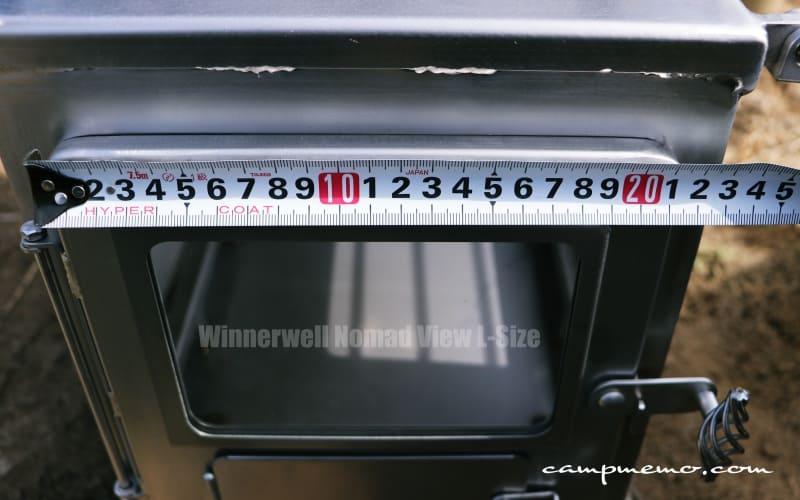Winnerwell Nomad View L-Size 本体正面の扉横幅