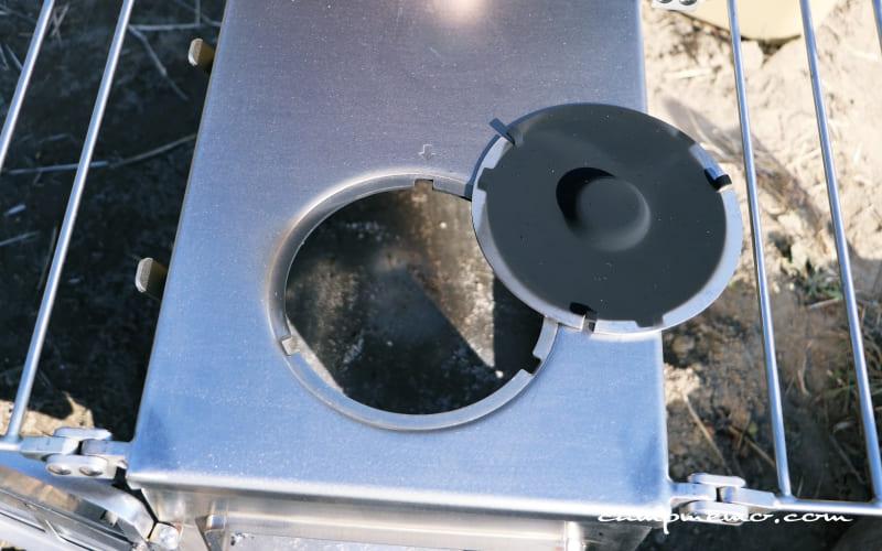 Winnerwell Nomad View L-Sizeの蓋についた煤のようす