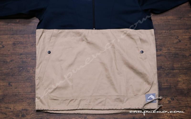 綿アノラックパーカーのカンガルーポケット