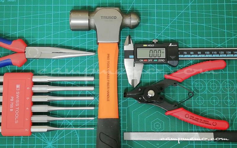 オピネルを安全に分解するために必要な道具
