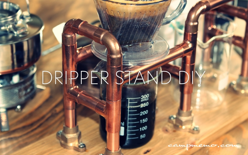 銅管で作ったドリップスタンド