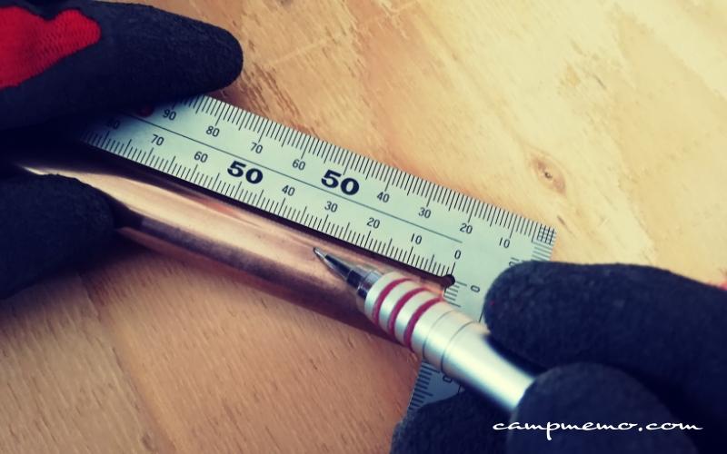 銅管ドリップスタンド用のカット寸法