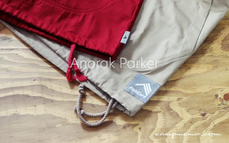 綿アノラックパーカー ロゴ