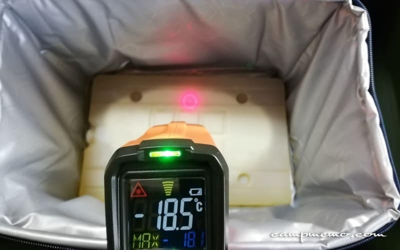 デイリークーラー底の氷点下パック表面温度-18.5℃