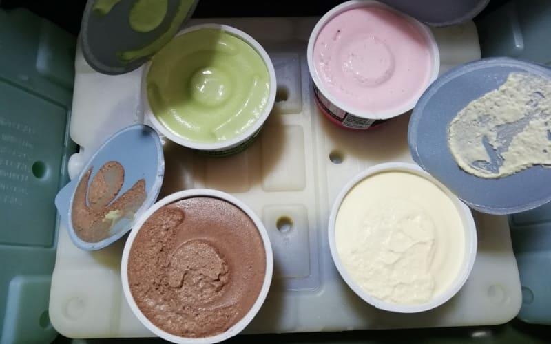 24時間後のアイスクリーム表面