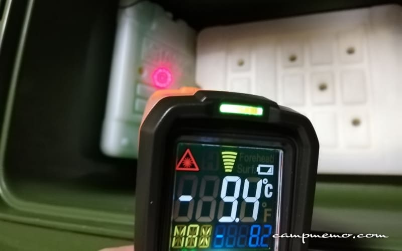 インペリアルクーラーボックス内の倍速凍結Mサイズ左側