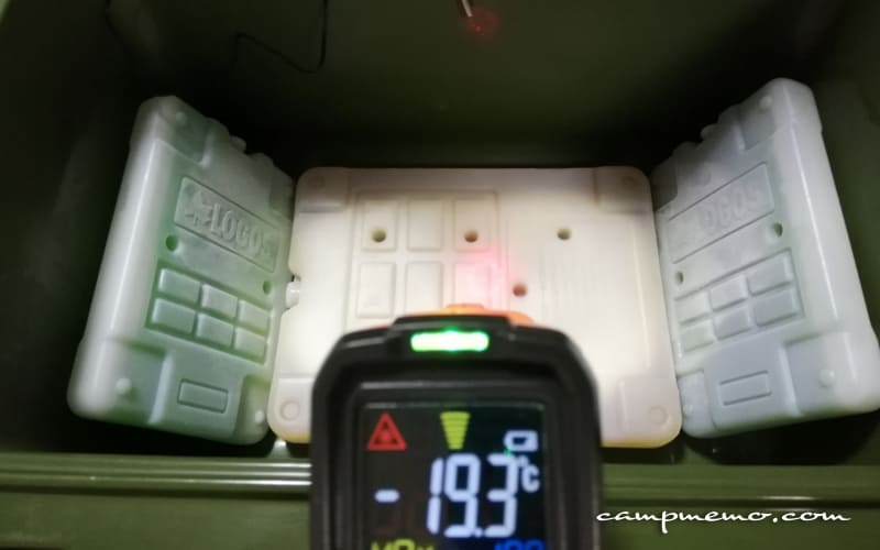 インペリアルクーラーボックス内の氷点下パックGT-16℃1200g