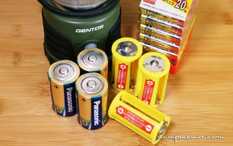 単3電池で単1電池の利用が可能になる電池スペーサー