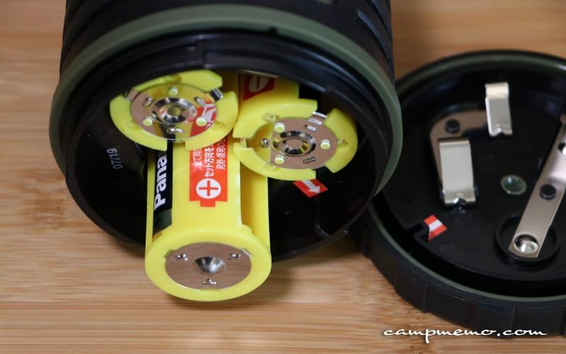 ジェントスのLEDランタン・エクスプローラーEX-109Dと電池スペーサー