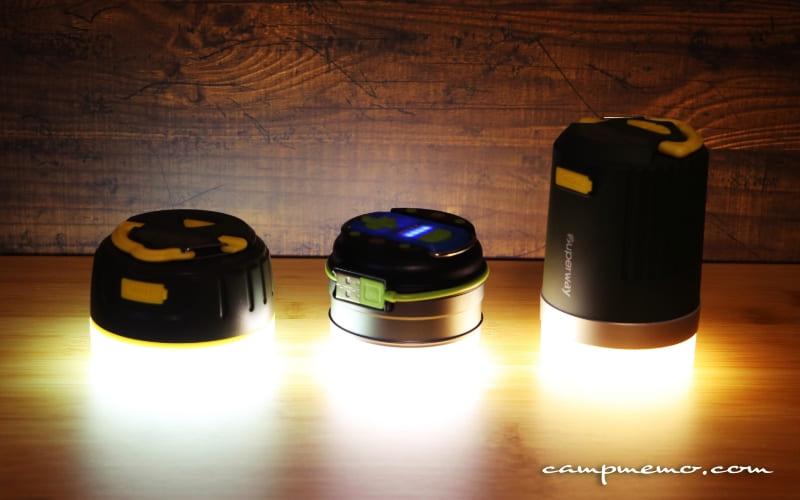 災害用の充電式LEDランタン