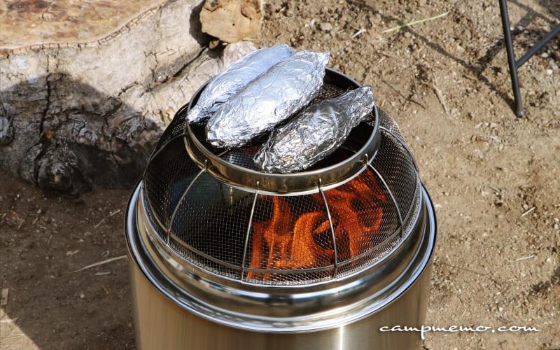 ソロストーブレンジャーで焼き芋