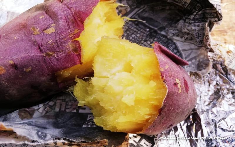 ソロストーブでホクホクの焼き芋