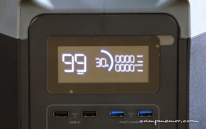 EFDELTAのバッテリー容量表示30%