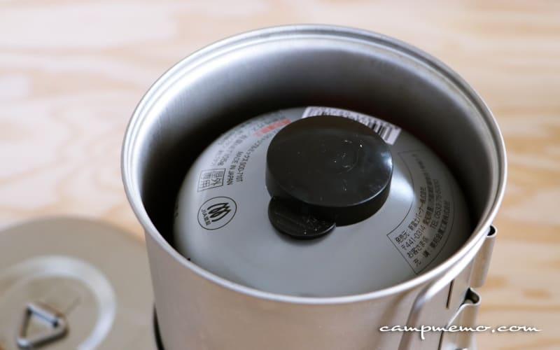 ソロセットチタン極とOD缶のスタッキング