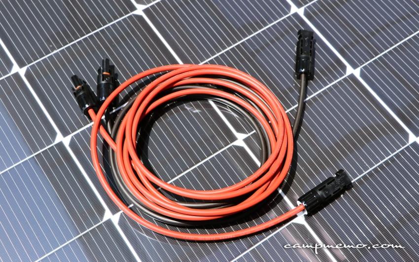 MC4型コネクター付ソーラーケーブル