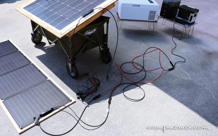 ソーラーパネルからsuaokiG500へ充電